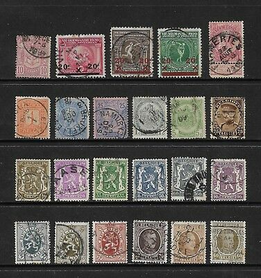 BELGIUM mixed collection No.22, early, used