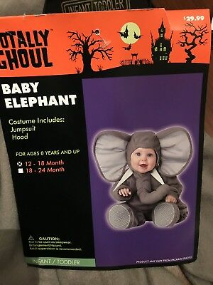 ELEPHANT HALLOWEEN COSTUME 12-18 Months Totally Ghoul Toddler