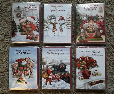 Christmas Cards Bundle Job Lot 72 Cards Friend Both Of You All Of You Neighbours