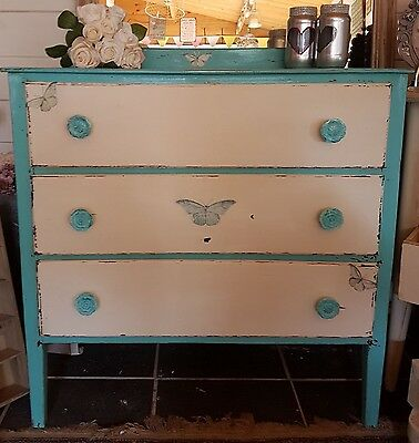 Chest of Drawers Shabby Chic Upcycled Storage Vintage Furniture 1940's