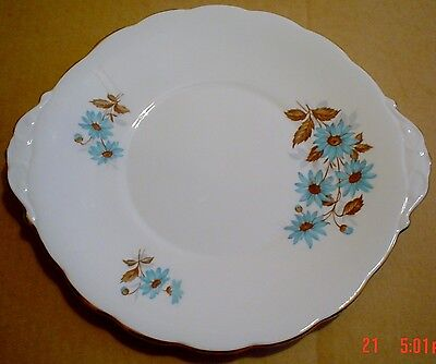 Pretty Roslyn Fine Bone China Cake or Biscuit Plate
