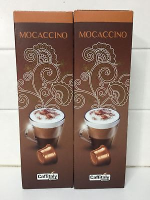 20 MOCCACCINO espresso Coffee capsules CAFFITALY Free Shipping+Tracking Number