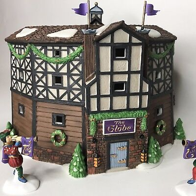 Department 56 Dicken's Village The Old Globe Theater Set of 4