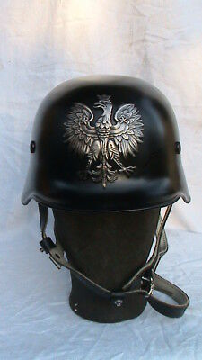 IIWW German Helmet with POLISH EAGLE- VERY RARE - BARGAIN !!!