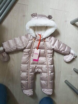 Baby Girls Ted baker snowsuit 0-3 Months