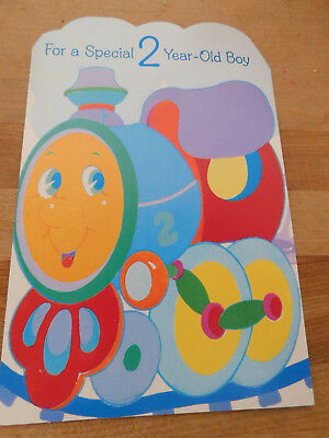 Vintage Birthday Greeting Card For 2 Year Old Punchjudy See Pics