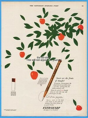 1926 Wahl Eversharp Pencil Chicago Il Sweet Are The Fruits Of Thought Ad