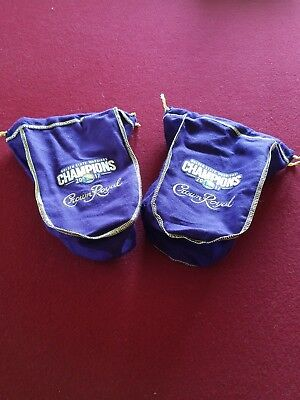 Golden State Warriors Crown Royal bag Rare collectible lot of 2- 750 ml size NBA