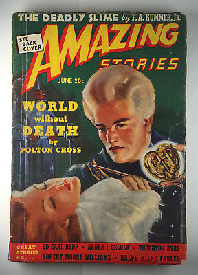 AMAZING STORIES June 1939 Issue Science Fiction Pulp Magazine Vol.13 No.6