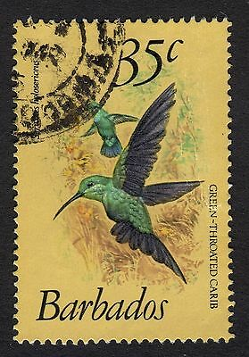 Barbados: Birds (35c Green-throated Carib value only); fine used condition