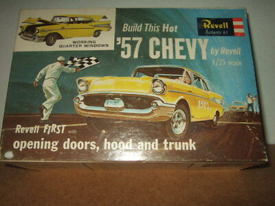 1957 chevy Revell 1/25 model kit H-1284-200 restore or for parts built up 1963