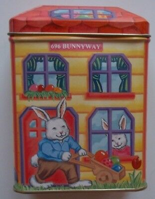 Vintage Antique TIN BOX CO. METAL EASTER CONTAINER - 696 Bunny Way House Roof