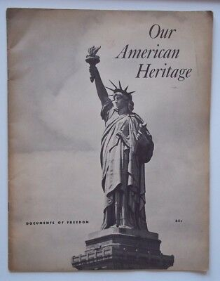 Vintage Antique OUR AMERICAN HERITAGE Book DOCUMENTS OF FREEDOM Train Souvenir