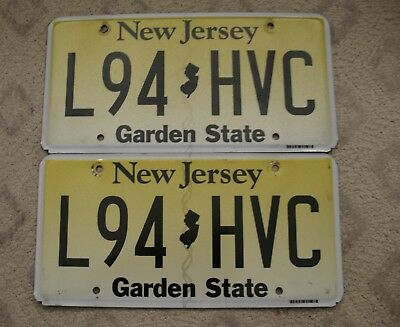 57 - New Jersey Flat License Plate Pair L94 Hvc