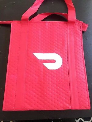 Professional Doordash Insulated Food Delivery Bag Red Unused New