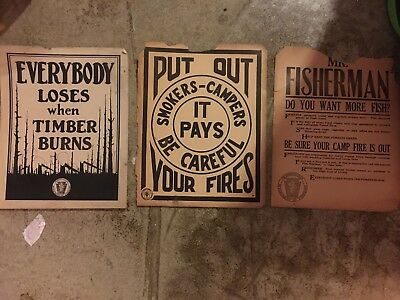 Rare Lot of Vintage Pennsylvania Dept of Forestry Posters