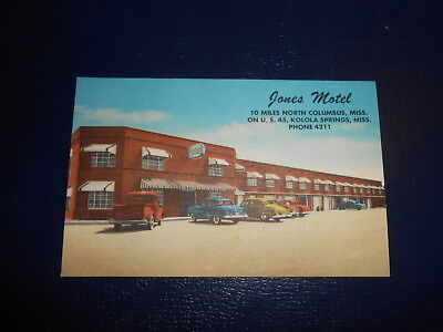 Jones Motel Koloa Mississippi Postcard