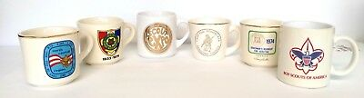 Scouts mugs / cups lot of 6 some from the 70's boy scouts