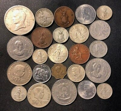 Old Philippines Coin Lot - 1903-PRESENT - 24 Excellent Coins - Lot #115