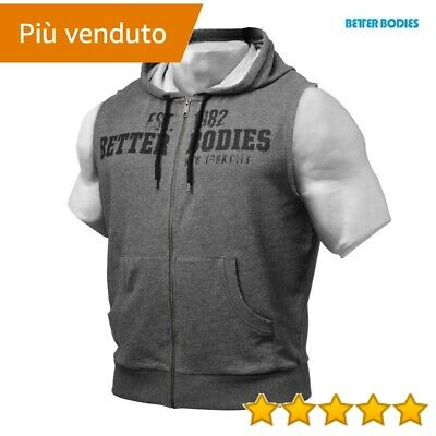 felpe Better Bodies GRAPHIC HOODIE GREYMELANGE MEDIUM > maglie Herren-Sport-Bekleidung Fitness & Jogging