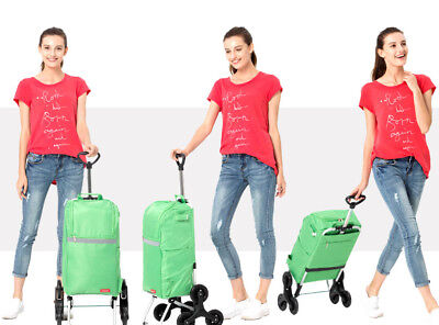 D87 Rugged Aluminium Luggage Trolley Hand Truck Folding Foldable Shopping Cart