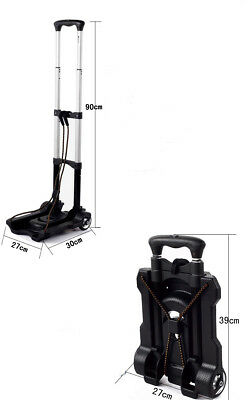 D2 Folding Aluminium HeavyDuty Luggage Trolley Hand Truck Foldable Shopping Cart