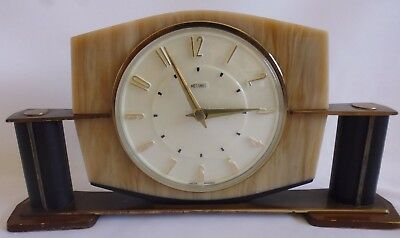 Metamec - art Deco - Electric mantle clock 1960s Working.