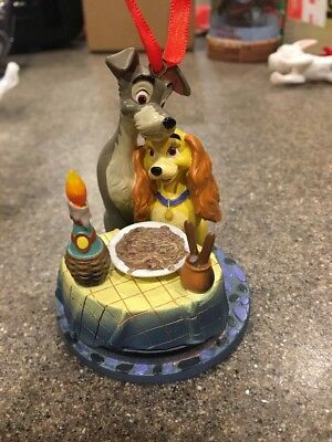 DISNEY STORE LADY AND THE TRAMP SKETCHBOOK CHRISTMAS ORNAMENT Bella Notte 2012