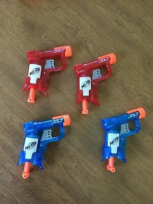 Lot Of 4 Used Nerf Jolt Blasters