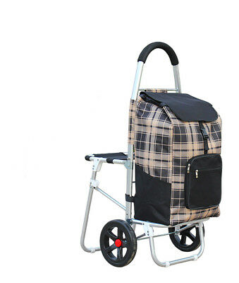 D26 Rugged Aluminium Luggage Trolley Hand Truck Folding Foldable Shopping Cart