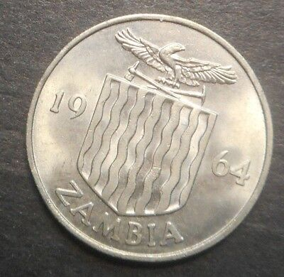 Zambia 1964  1965 6 Pence   UNC   Coin