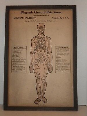 1916 American University Chicago - Diagnoss Chart of Pain Areas - Chart 1