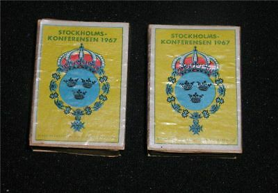Rare Anti-Vietnam/US Stockholm Conference~TWO 1967 Matchboxes~Full