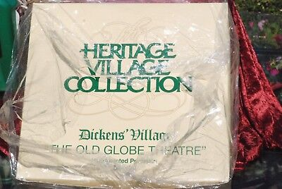New DEPARTMENT 56 DICKENS VILLAGE SERIES THE OLD GLOBE THEATRE SET OF 4 #58501