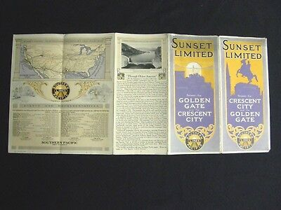 SUNSET LIMITED Train New Orleans Los Angeles New York 1910's Railroad Brochure