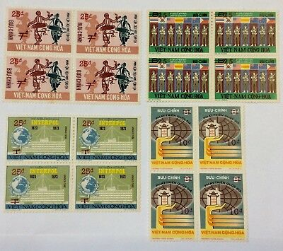 South Viet-Nam Surcharged Stamps MNH