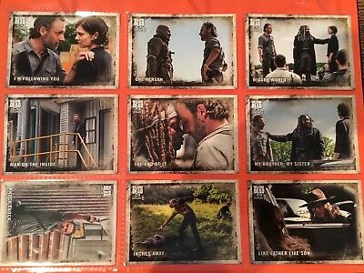2018 Walking Dead Season 8 Part 1 Complete Base Card Set (#1-90) with Wrapper!