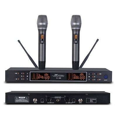 Handheld Wireless Microphones Digital Dual Microphone System Karaoke Mics mike