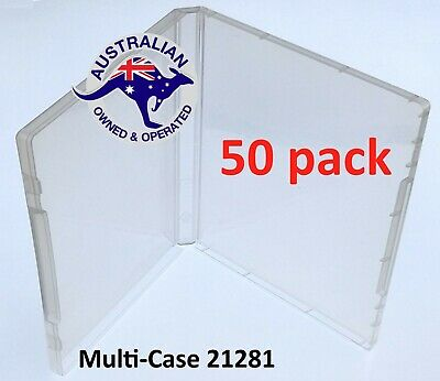 50 Super Clear Plastic DVD Stamp Storage Poly Cases