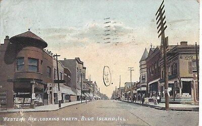 PC-Blue Island, IL 1908 Western Ave. Looking North. Businesses. See images