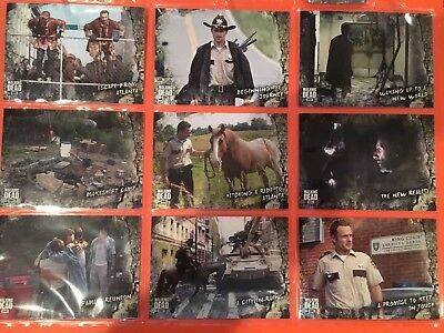 Walking Dead Road to Alexandria Complete Base Card Set (#1-100) with Wrapper!