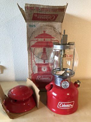 Vintage New in Box 1974 200A 195 Coleman Single Mantle Cherry Red Lantern