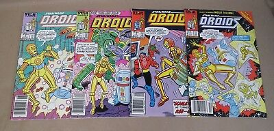 1986 DROIDS First Issues, Marvel Lot of Four #1 2 3 4 Comics Star Wars, *ESTATE*