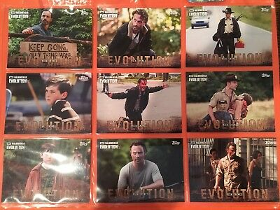 2017 Topps Walking Dead Evolution Complete Base Card Set (#1-100) with Wrapper!