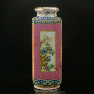 Chinese Enamel Porcelain Hand Painted Vase Made During The Kangxi Period RF012`d