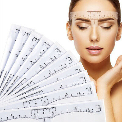 Disposable Microblading Permanent Tattoo Eyebrow Measure Ruler Sticker Stencils