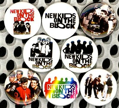 "New Kids on the Block 8 NEW 1"" buttons pins badges NKOTB STOCKING STUFFER"