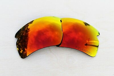 Polarized Replacement Lenses for Oakley Flak Jacket 2.0 XL Sunglasses Fire Red