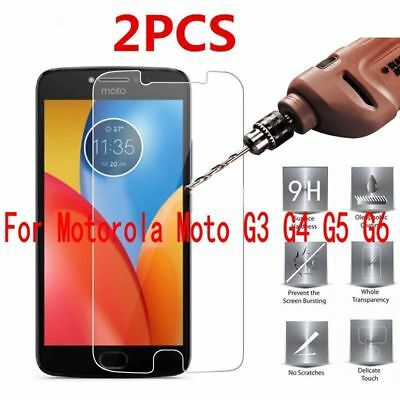 2Pcs 9H Tempered Glass Film Screen Protector For Motorola Moto G3 G4 G5 X Z Plus