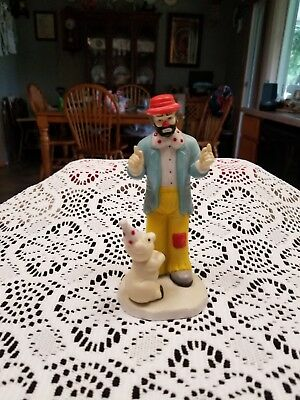 Rare Emmitt Kelly Jr Clown with Pig from flambro excellent condition
